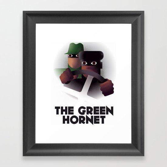 Cassandre Spirit - The green hornet Framed Art Print
