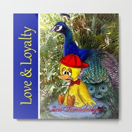 Love & Loyalty Book Collection Metal Print