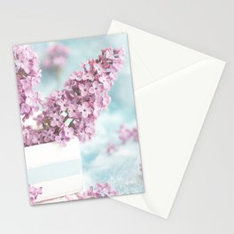 Lilac power in pastel Stationery Cards