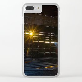 Sunset Through the Slats Clear iPhone Case
