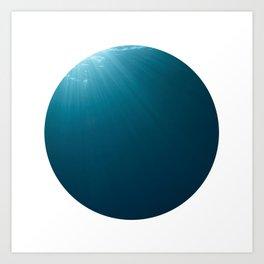 Under Water 7 Art Print