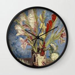 Van Gogh - Vase with Gladioli and China Asters Wall Clock