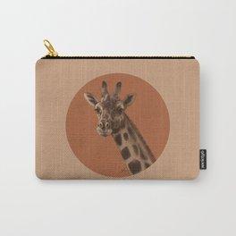 Round Giraffe Carry-All Pouch