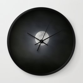 First Full Moon of 2018 Wall Clock