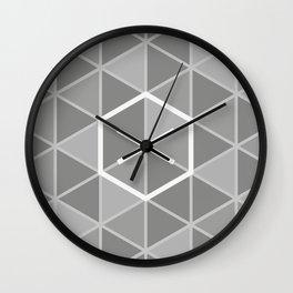 Abstract geometric gray pattern Wall Clock