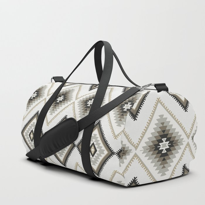 Beige Aztec Duffle Bag By Thekindredpines