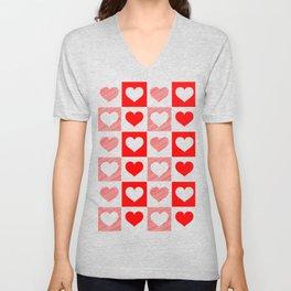 Hearts Unisex V-Neck