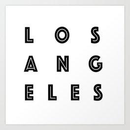 Los Angeles Typography Art Print