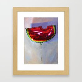 Watermelon Balloon Framed Art Print
