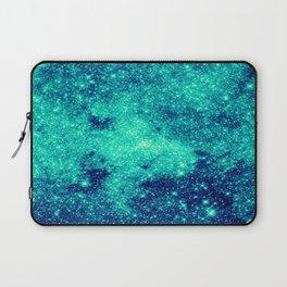 Teal Turquoise GalaXy. Sparkle Stars Laptop Sleeve