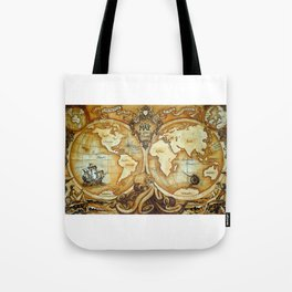 Release the Kraken - A New Map of the World Tote Bag
