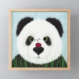 The Panda Bear And His Visitor Framed Mini Art Print