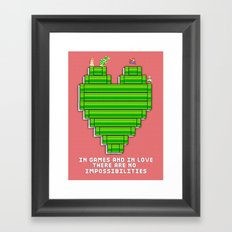 In Games and in Love Framed Art Print