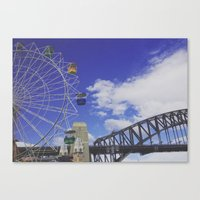 sydney Canvas Prints featuring sydney. by jemimahana