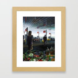 Gasstation Framed Art Print