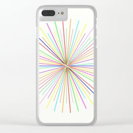 Strands Of Light - Defraction Pattern Clear iPhone Case