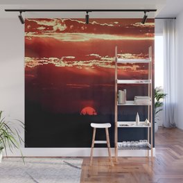 Burning Southern Setting Sun Wall Mural