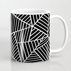 Ab Lines Black on White Coffee Mug