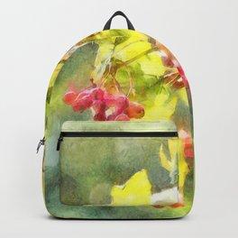 Winter Berries Watercolor Backpack