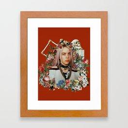 Billie Eilish Graphic Artwork Framed Art Print