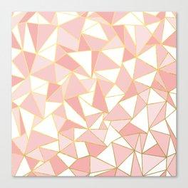 Ab Out Blush Gold 2 Canvas Print