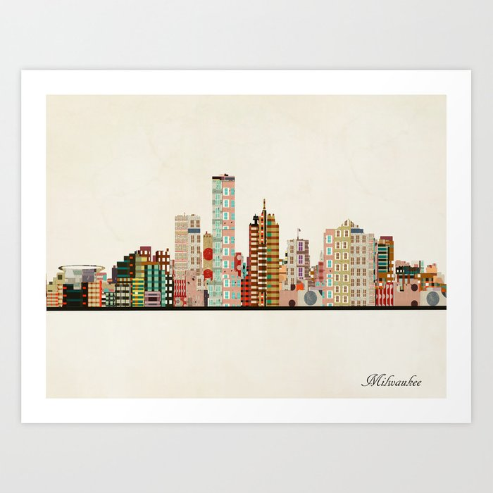 milwaukee wisconsin skyline Kunstdrucke
