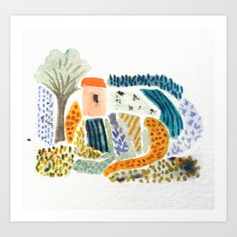 Wee Little Farm Art Print