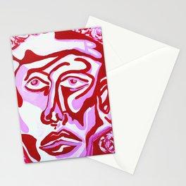 Valentine Face  Stationery Cards