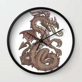 Danube river dragon Wall Clock