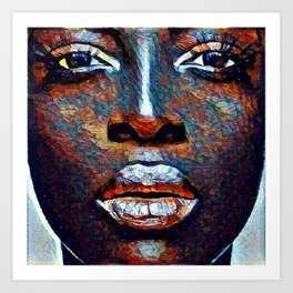 Colored Woman Art Print