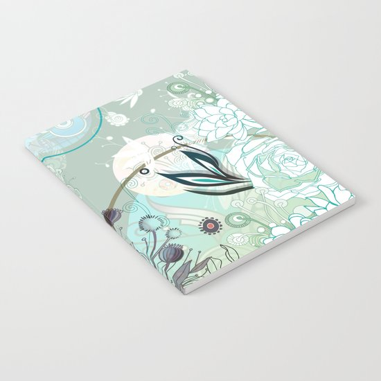 Floral collage Notebook