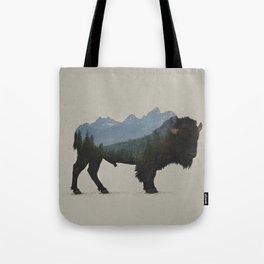 Grand Teton Bison Tote Bag