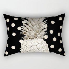 Gold Pineapple Polka Dots 3 Rectangular Pillow