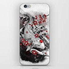 White Koi and sakuras iPhone & iPod Skin