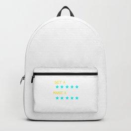 Dream Plan Execute T-shirt Design Set a goal make a plan execute Backpack