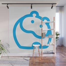 Blue hippo Wall Mural