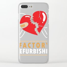Factory Refurbished - Open Heart Surgery Gift design  graphic Clear iPhone Case