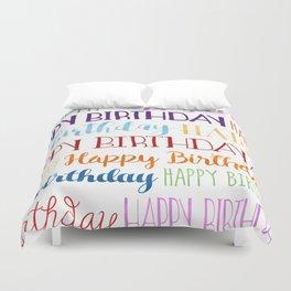 Happy Birthday | Fun & Bright Duvet Cover