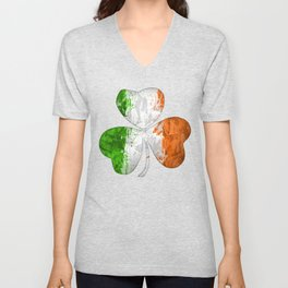 Irish Tricolour Shamrock Unisex V-Neck