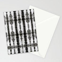 Black and White Tiki Shibori Stationery Cards