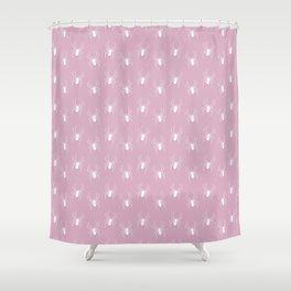 Pink Spider Pattern Shower Curtain
