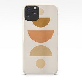 Abstraction_Geometric_Shape_Moon_Sun_Minimalism_001D iPhone Case