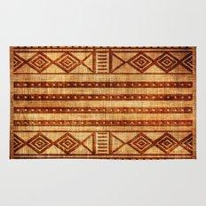 Embossed African Pattern Rug