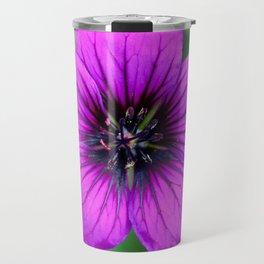 Vibrant Purple Flower Travel Mug