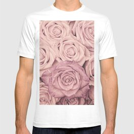 Some People Grumble - Pink Rose Pattern - Roses T-shirt