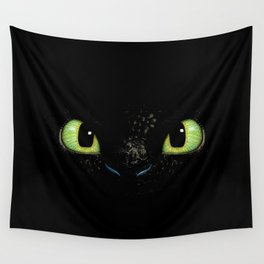 HTTYD Toothless Fiery Eyes Wall Tapestry