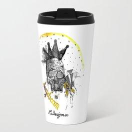 Day Dreamer Skull - Black and White Travel Mug