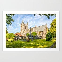 St Mary and All Saints church and churchyard, Old Beaconsfield, Buckinghamshire, ENgland Art Print