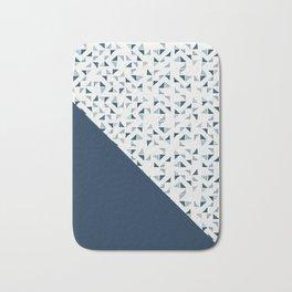 Indigo Triangles #society6 #pattern #indigo Bath Mat