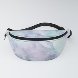 Pastel modern purple lavender hand painted watercolor wash Fanny Pack